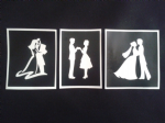 Couples holding hands (3 varieties)  stencils for etching on glass  (mixed)  Wedding gift Valentine's Day